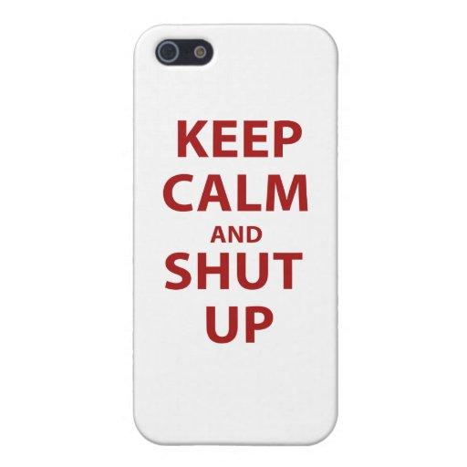 Guarde la calma y cierre para arriba iPhone 5 coberturas