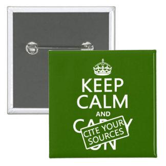 Guarde la calma y cite sus fuentes (en cualquier c pin