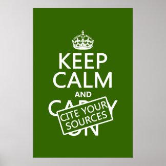 Guarde la calma y cite sus fuentes (en cualquier c póster