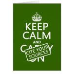 Guarde la calma y cite sus fuentes (en cualquier c tarjeta