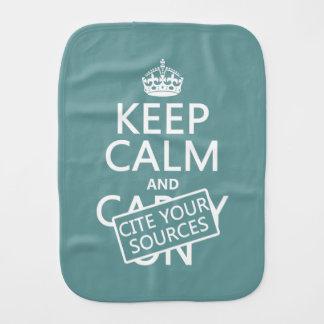 Guarde la calma y cite sus fuentes (en cualquier paños para bebé