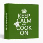 Guarde la calma y cocine en (los colores adaptable