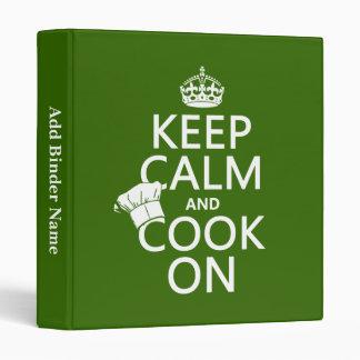 """Guarde la calma y cocine en (los colores adaptable carpeta 1"""""""
