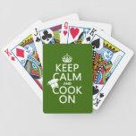 Guarde la calma y cocine en (los colores adaptable baraja de cartas
