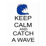 Guarde la calma y coja una onda tarjeta postal