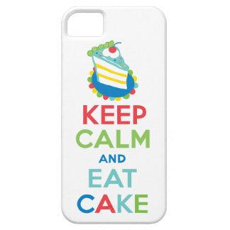 Guarde la calma y coma la caja del iphone 5 de la funda para iPhone SE/5/5s