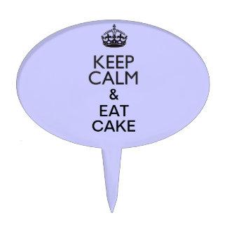 Guarde la calma y coma la torta figuras para tartas