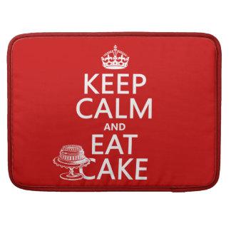 Guarde la calma y coma la torta (los colores del p fundas para macbook pro