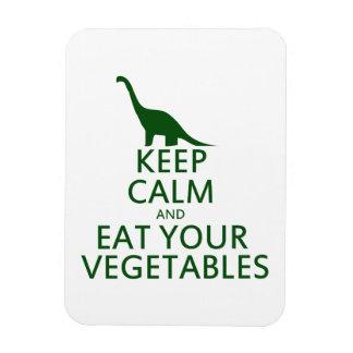 Guarde la calma y coma sus verduras iman de vinilo