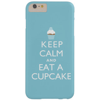 Guarde la calma y coma una magdalena {azul} funda barely there iPhone 6 plus