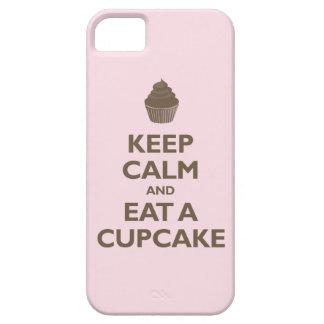 Guarde la calma y coma una magdalena (rosa y el iPhone 5 funda