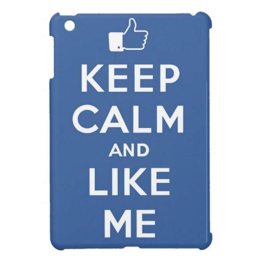 Guarde la calma y como mí los pulgares para arriba iPad mini coberturas