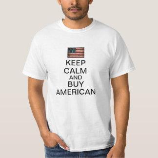 Guarde la calma y compre al americano remera