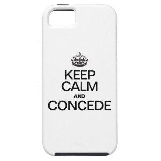 GUARDE LA CALMA Y CONCÉDALA iPhone 5 FUNDAS