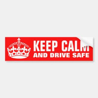 Guarde la calma y conduzca a la pegatina para el p pegatina para auto