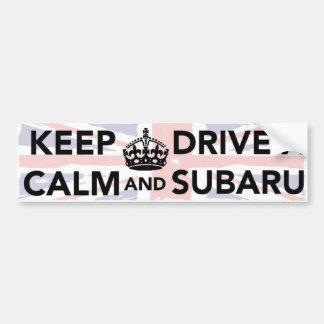 Guarde la calma y conduzca a una pegatina para el  pegatina para auto
