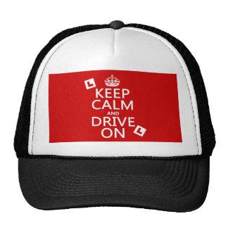 Guarde la calma y conduzca en (principiante) (cual gorras de camionero