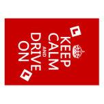 Guarde la calma y conduzca en (principiante) (cual plantilla de tarjeta de negocio