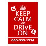 Guarde la calma y conduzca en (principiante) (cual tarjeta de visita