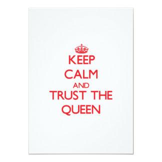 Guarde la calma y confíe en a la reina comunicado personal