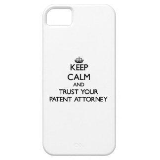 Guarde la calma y confíe en a su abogado de iPhone 5 funda