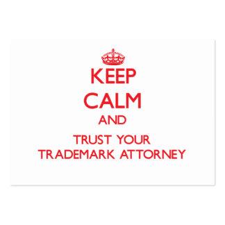 Guarde la calma y confíe en a su abogado de la mar tarjeta personal