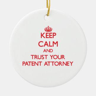 Guarde la calma y confíe en a su abogado de patent