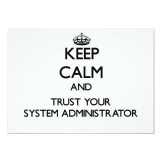 Guarde la calma y confíe en a su administrador de invitacion personalizada