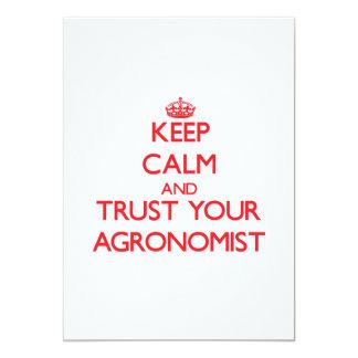 Guarde la calma y confíe en a su agrónomo anuncio