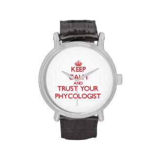Guarde la calma y confíe en a su algólogo relojes de pulsera