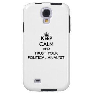 Guarde la calma y confíe en a su analista político funda para galaxy s4