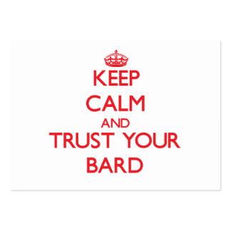 Guarde la calma y confíe en a su bardo tarjeta de negocio