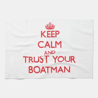 Guarde la calma y confíe en a su barquero