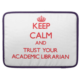 Guarde la calma y confíe en a su bibliotecario aca fundas para macbooks