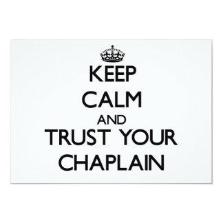 Guarde la calma y confíe en a su capellán comunicados