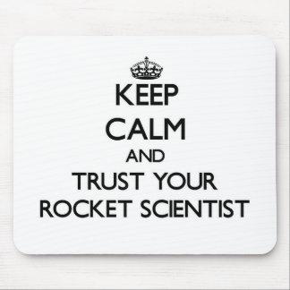 Guarde la calma y confíe en a su científico de Roc Tapete De Ratones
