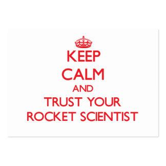 Guarde la calma y confíe en a su científico de Roc Tarjetas De Visita