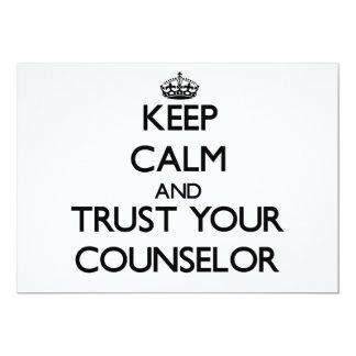 Guarde la calma y confíe en a su consejero invitaciones personales
