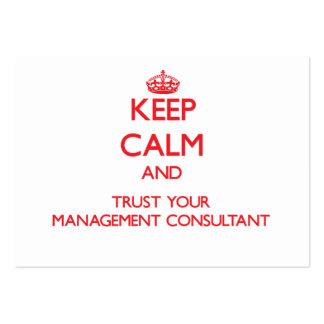 Guarde la calma y confíe en a su consultor en tarjetas de visita grandes