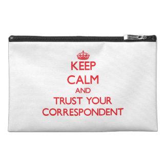 Guarde la calma y confíe en a su correspondiente