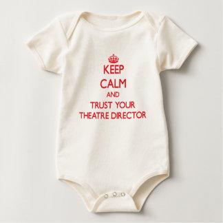 Guarde la calma y confíe en a su director del trajes de bebé
