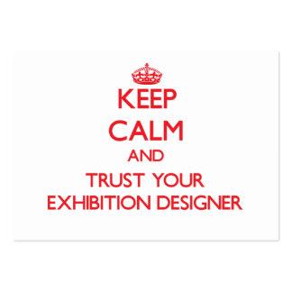 Guarde la calma y confíe en a su diseñador de la e tarjetas de visita
