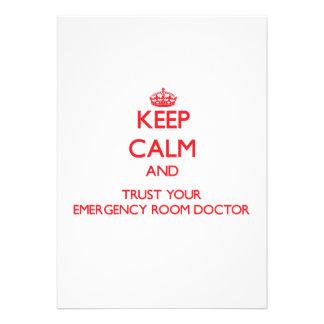 Guarde la calma y confíe en a su doctor de la sala comunicados personales