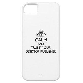 Guarde la calma y confíe en a su editor de funda para iPhone 5 barely there
