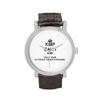 Guarde la calma y confíe en a su encargado al aire relojes de pulsera
