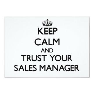 Guarde la calma y confíe en a su encargado de comunicado personalizado
