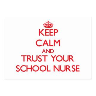 Guarde la calma y confíe en a su enfermera de la e tarjetas de visita