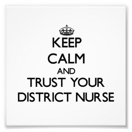 Guarde la calma y confíe en a su enfermera del dis cojinete