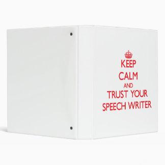 """Guarde la calma y confíe en a su escritor de discu carpeta 1"""""""