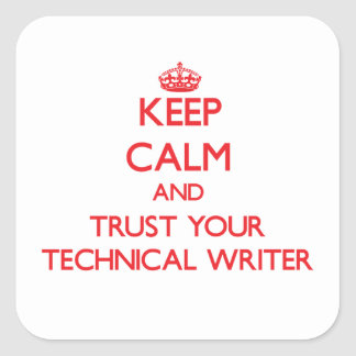 Guarde la calma y confíe en a su escritor técnico